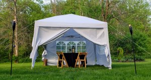 private dining tent