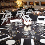 The Blind Horse table settings